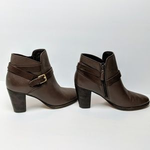 Cole Haan | Hayes Strap Brown Leather Ankle Boots